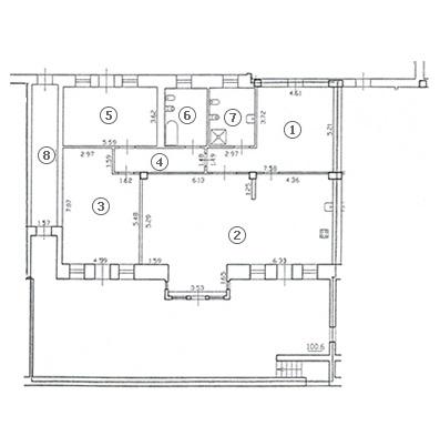 Планировка Трёхкомнатная квартира площадью 187.2 кв.м в ЖК «Diadema Club House»